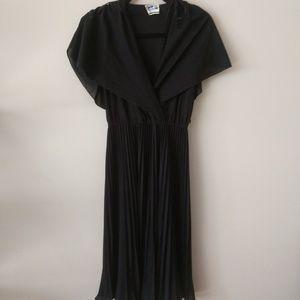 Jackie O California Vintage Black Dress Size 7